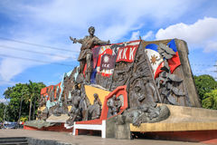 KKK Monument in Manila, Philippines. Katipunan, abbreviated to KKK monument in Manila, Philippines. The Katipunan was a Philippine revolutionary society Royalty Free Stock Image
