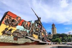 KKK-monument och Manila stadshus Arkivfoto