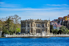 Küçüksu Palace (Kucuksu Palace) seen from Bosphorus strait, Istanbul, Turkey Royalty Free Stock Photography