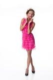 klä emotionellt rosa kvinnabarn Royaltyfri Foto