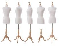 Klä formen på olika vinklar som isoleras på vit Arkivbild