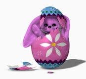 kläcka för 01 kanin royaltyfri illustrationer
