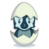 Kläcka för pingvinfågelunge Vektor Illustrationer