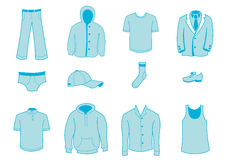 Kläd- och tillbehörsymboler Arkivfoto