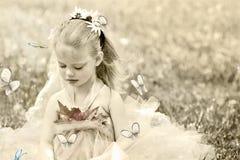 klädd fe för barn dräkt Royaltyfri Foto
