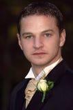 klädd formell male modell Royaltyfri Fotografi
