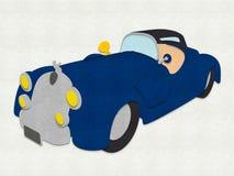Klädd med filt cabriolet Fotografering för Bildbyråer