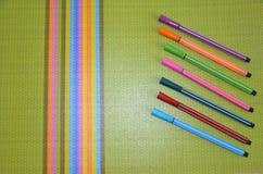 Klädd med filt penna, färg som är härlig arkivfoto