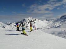 klädd snow för boarder colorfully Royaltyfri Bild