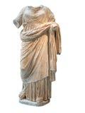 Klädde den huvudlösa statyn för gammalgrekiska av en kvinna med typisk cl Arkivbild