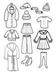 kläder Royaltyfri Illustrationer