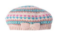 Kläder för höstsäsong för ungemodevår Rosa hatt eller flickalock arkivfoto