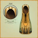 Kläder för simmare Inrista stil 8 Arkivbilder