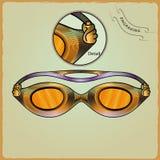 Kläder för simmare Inrista stil 1 Royaltyfri Bild