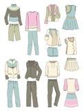 Kläder för tonåriga flickor Royaltyfri Fotografi