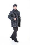kläder man ner vinterbarn Royaltyfri Fotografi