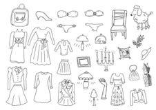 Kläder och tillbehör Arkivfoto