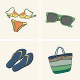 Kläder och tillbehör För dig design royaltyfri illustrationer