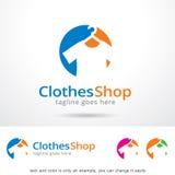 Kläder shoppar Logo Template Design Vector Arkivbild