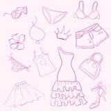 kläder ställde in kvinnan Royaltyfria Bilder