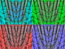Kläder texturerar i fyra färger Arkivfoto