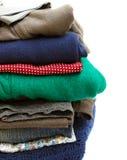 kläderstapel Arkivbilder