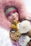 klädflicka little vinter royaltyfria bilder