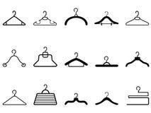 Klädhängaresymbol stock illustrationer