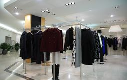 klädkvinnlign shoppar Arkivbilder
