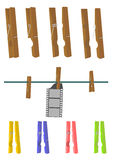 Klädnypa. vektor illustrationer