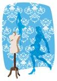 klädskyltdockor Vektor Illustrationer