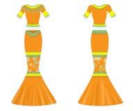 klänning Arkivbilder