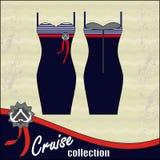 klänning för coctailsamlingskryssning Royaltyfria Bilder