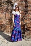 Klänning för högt mode för kvinna Arkivbild