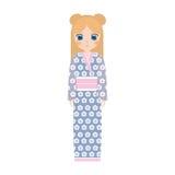 klänning för japansk docka för flicka traditionell vektor illustrationer