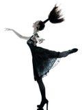Klänning för sommar för kvinnamodeblack silk Arkivfoto