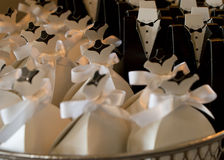 klänning little som är vit Fotografering för Bildbyråer