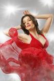 klänning long Arkivfoto