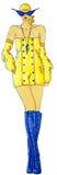 Klänning som dras i vattenfärg royaltyfri bild
