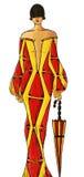 Klänning som dras i vattenfärg Arkivfoto