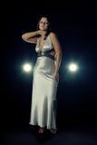 klänningaftonflicka Royaltyfria Foton