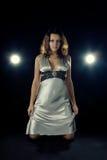 klänningaftonflicka Royaltyfri Bild