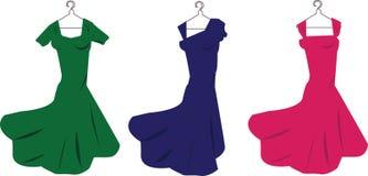 klänningar Arkivfoton