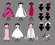 Klänningar stock illustrationer