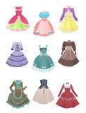 Klänningar för cosplay Arkivbilder