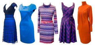 klänningar ställde in kvinnor Arkivfoto