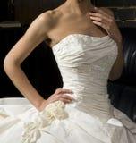 klänningbröllop Arkivbild