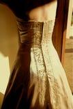 klänningbröllop Arkivfoto
