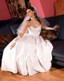 klänningbröllop royaltyfri foto