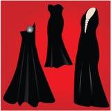 klänningdeltagare stock illustrationer